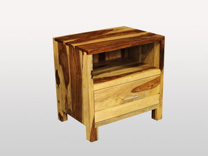 Enzo 1 drawer nightstand Champagne