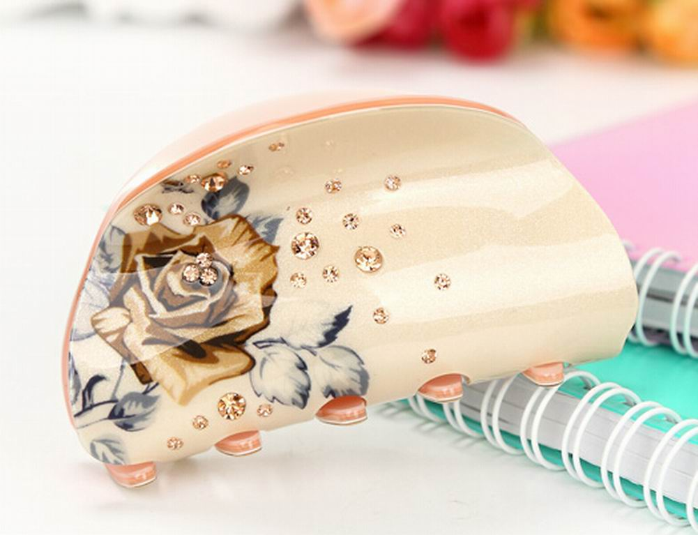 [Champagne Rose] Stylish Hair Claws - MyRoseLife