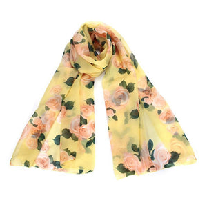 Rose Scarf Womens 2016 Fashion Voile Long Stole Scarves Shawl Scarf Ladies - MyRoseLife