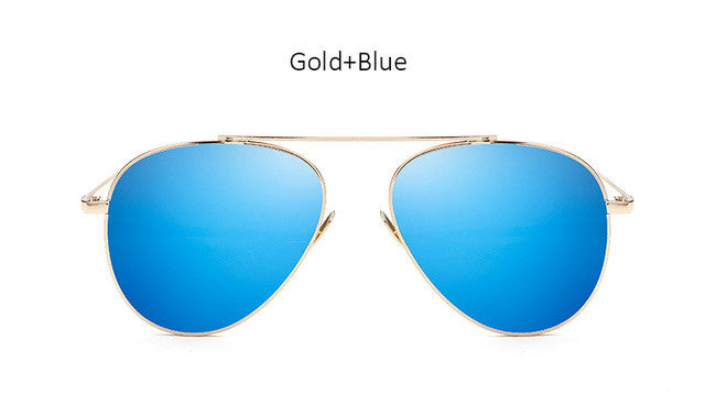 TSHING Women Rose Gold Mirror Retro Aviation Sunglasses Men Fashion Brand Designer Vintage Sun Glasses For Female Male Driving - MyRoseLife