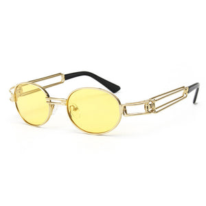 Round gold metal frame vintage glasses - MyRoseLife