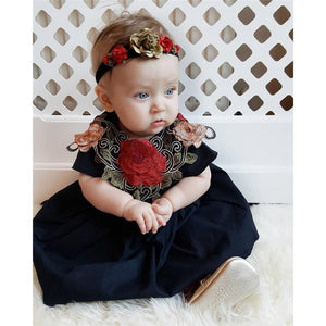 Toddler Kids Girl dress embroidery Rose Floral Dress Pageant Princess Party Dress Outfits Clothes drop shipping - MyRoseLife