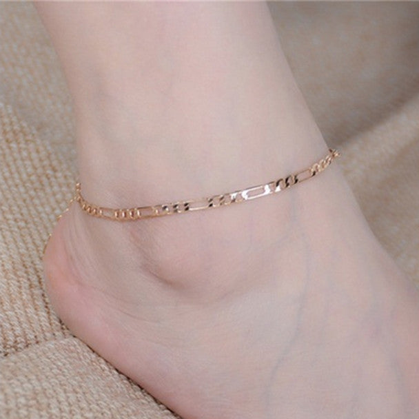 Lady Simple Fashion Gold Anklet Metal Chain Anklets GD - MyRoseLife