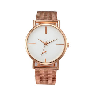 Luxury watch women's Full Steel Mesh Rose Gold Quartz watch relogio feminino wristwatches Ladies dress watch reloj mujer #816 - MyRoseLife