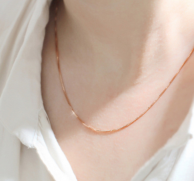Rose Gold Box Chain Necklace - MyRoseLife