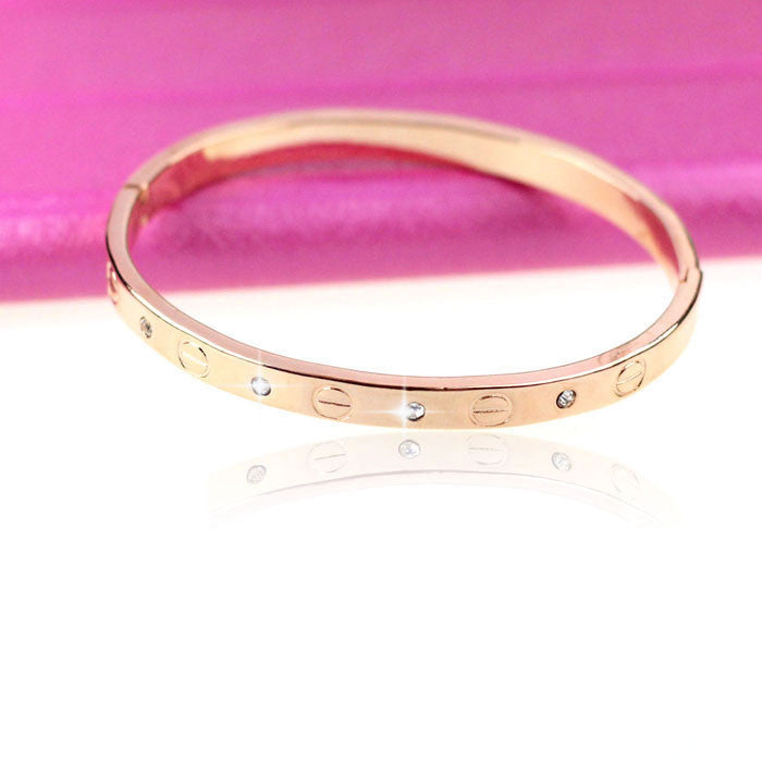 Rose Gold or Silver Bangle Bracelet - MyRoseLife