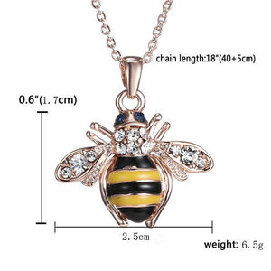 Rose Gold Bee Pendant Necklace - MyRoseLife