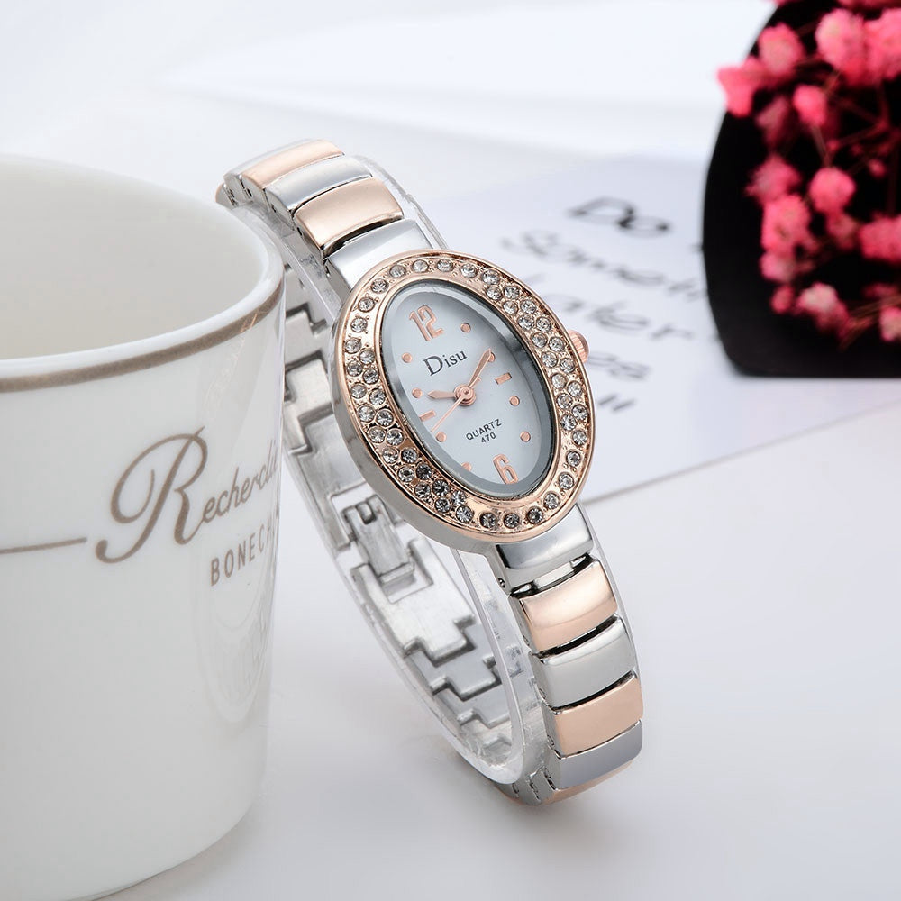 Rose Gold Plated Rhinestone Quartz Watch - MyRoseLife