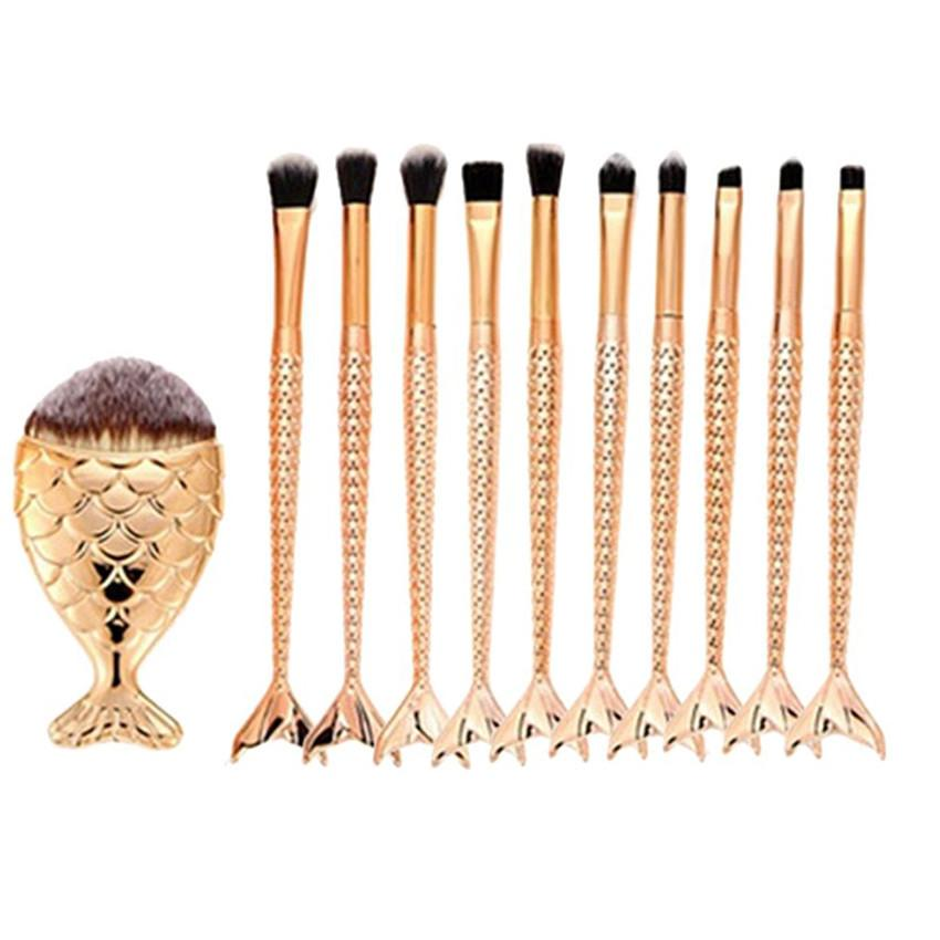 Mermaid Rose Gold 11PCS Make Brushes - MyRoseLife