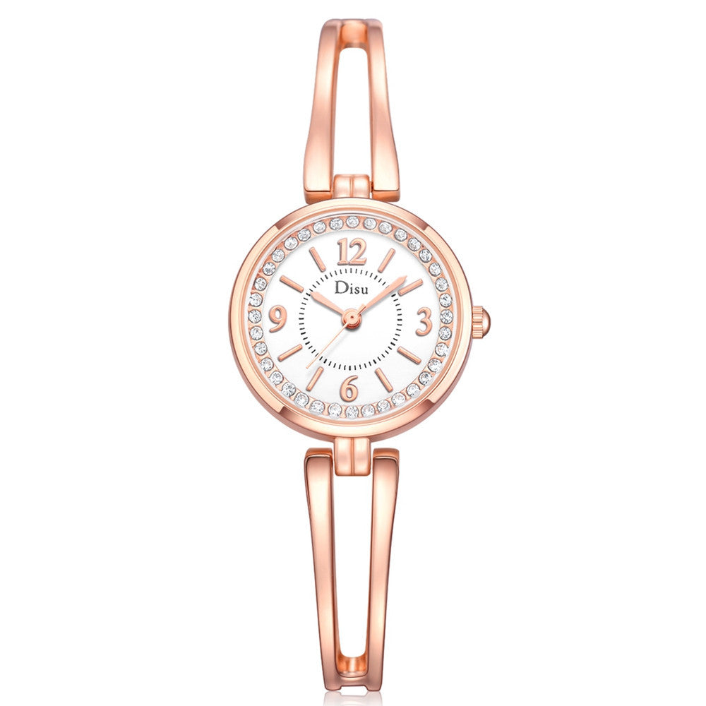 Rose Gold Plated Rhinestone Watch - MyRoseLife