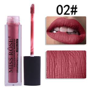 MISS ROSE Liquid Lipstick Moisturizer Velvet Lipstick Cosmetic Beauty Makeup - MyRoseLife