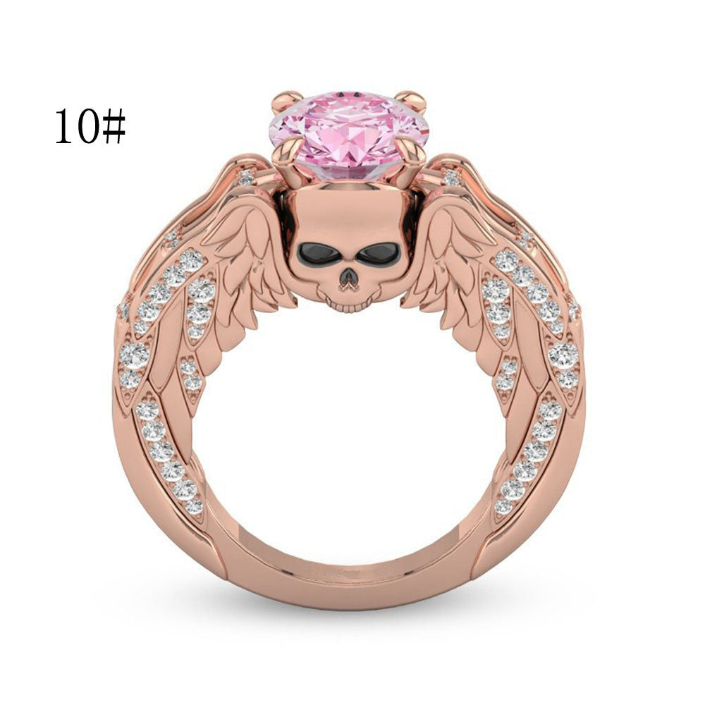 Rose Gold Diamond Skull Ring - MyRoseLife