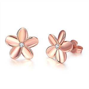Rose Gold Flower Earrings - MyRoseLife