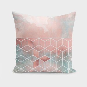 Rose Clouds And Cubes  Cushion/Pillow - MyRoseLife