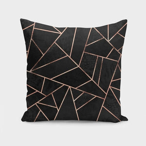 Velvet Black & Rose Gold Cushion/Pillow - MyRoseLife