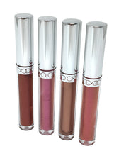 Various examples of Deluxe DIY Lip Gloss Making Kit final lip gloss product