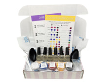 DIY Nail Polish Kit displaying all components in decorative fashion