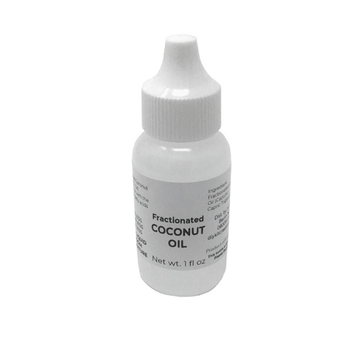Fractionated Coconut Oil in one ounce controlled dropper bottle
