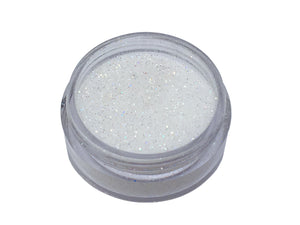 Close up of jar of glitter included in Deluxe DIY Lip Gloss Making Kit