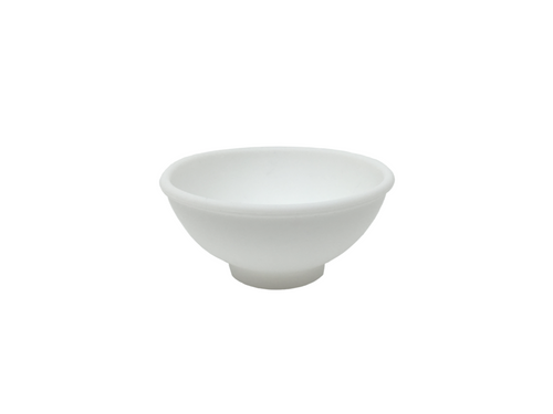 White silicone rubber mixing bowl