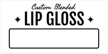 Lip Gloss Clear Label Design