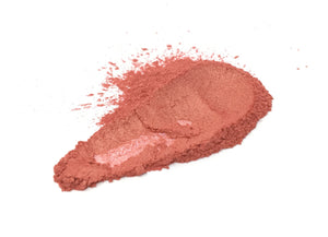 Warm pink mica pigment powder alternative view