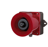 QWCD50 LED STROBE SIGNAL & ELECTRIC HORN COMBO, RED, 24VDC - Qlight
