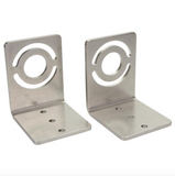 TUBELED 70 angle bracket, stainless steel (pair) - LED2WORK