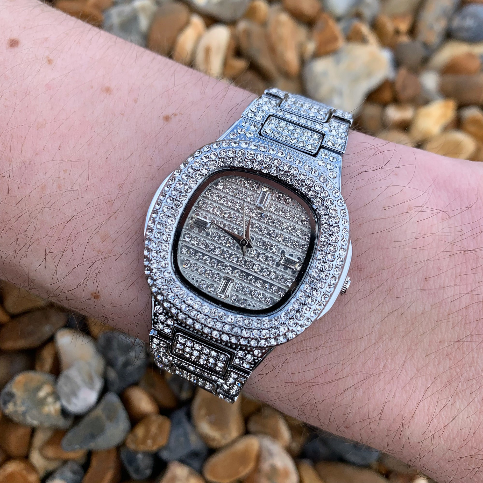 Buss Down Luxury Watch in White Gold