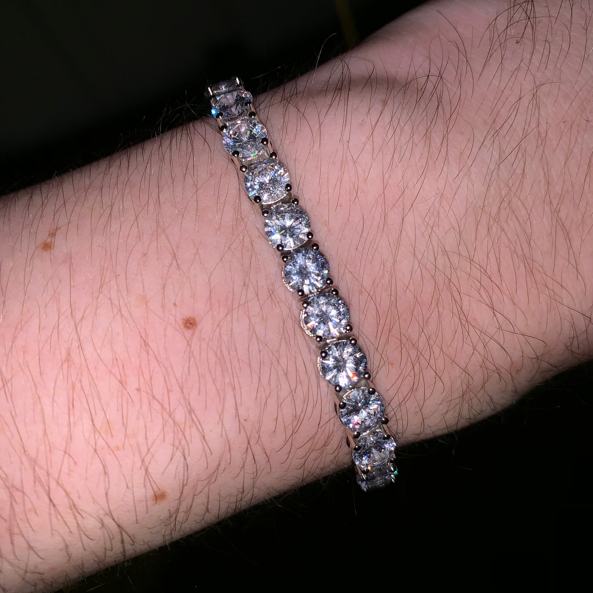 6mm ICED Tennis Bracelet in White Gold