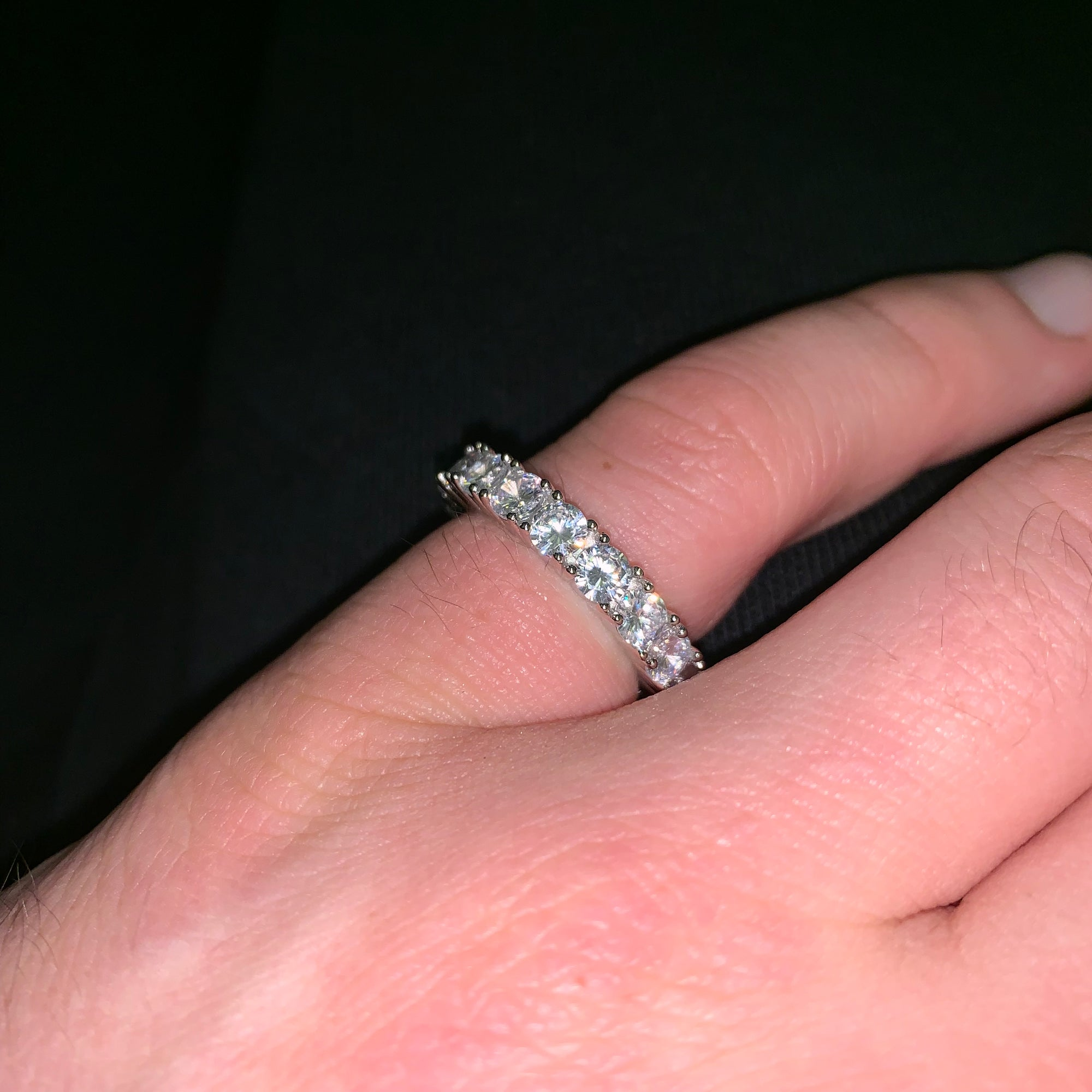 Eternity Ring in White Gold