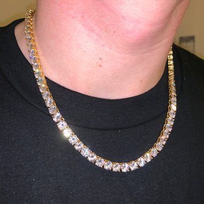 6mm ICED Tennis Chain in Gold