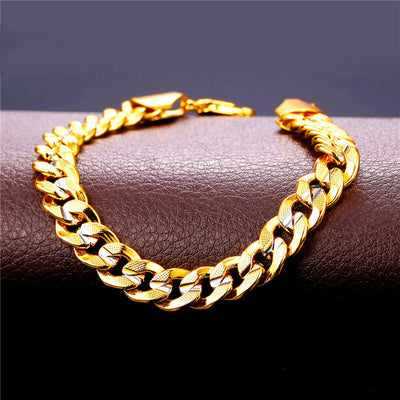 Ice Tray's Two Toned Cuban Link Chain Bracelet