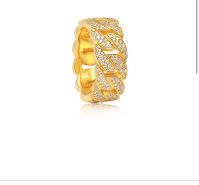 Ice Tray's Iced out Cuban Link Ring