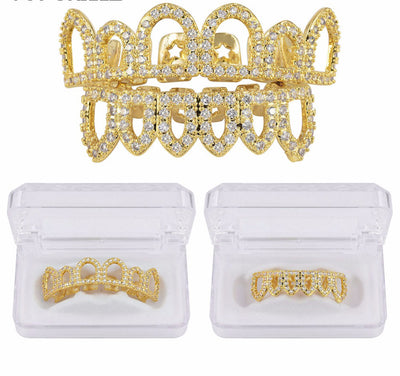 Ice Tray's Iced Gold/Silver Grill Fang Set