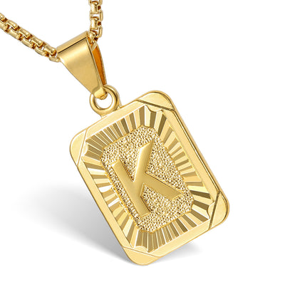 Ice Tray's Gold/Silver A-Z Initial Letter Pendants