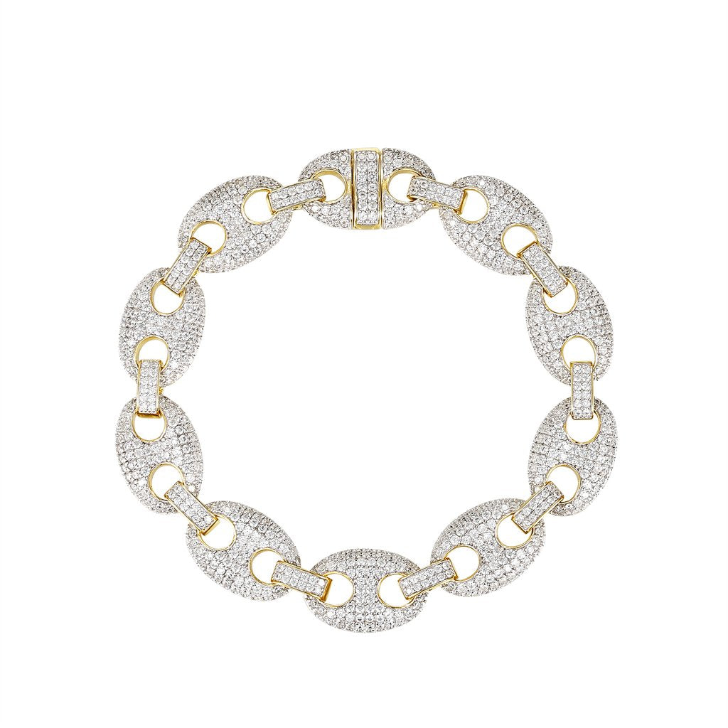 Iced Out 13mm Desinger Link Bracelet