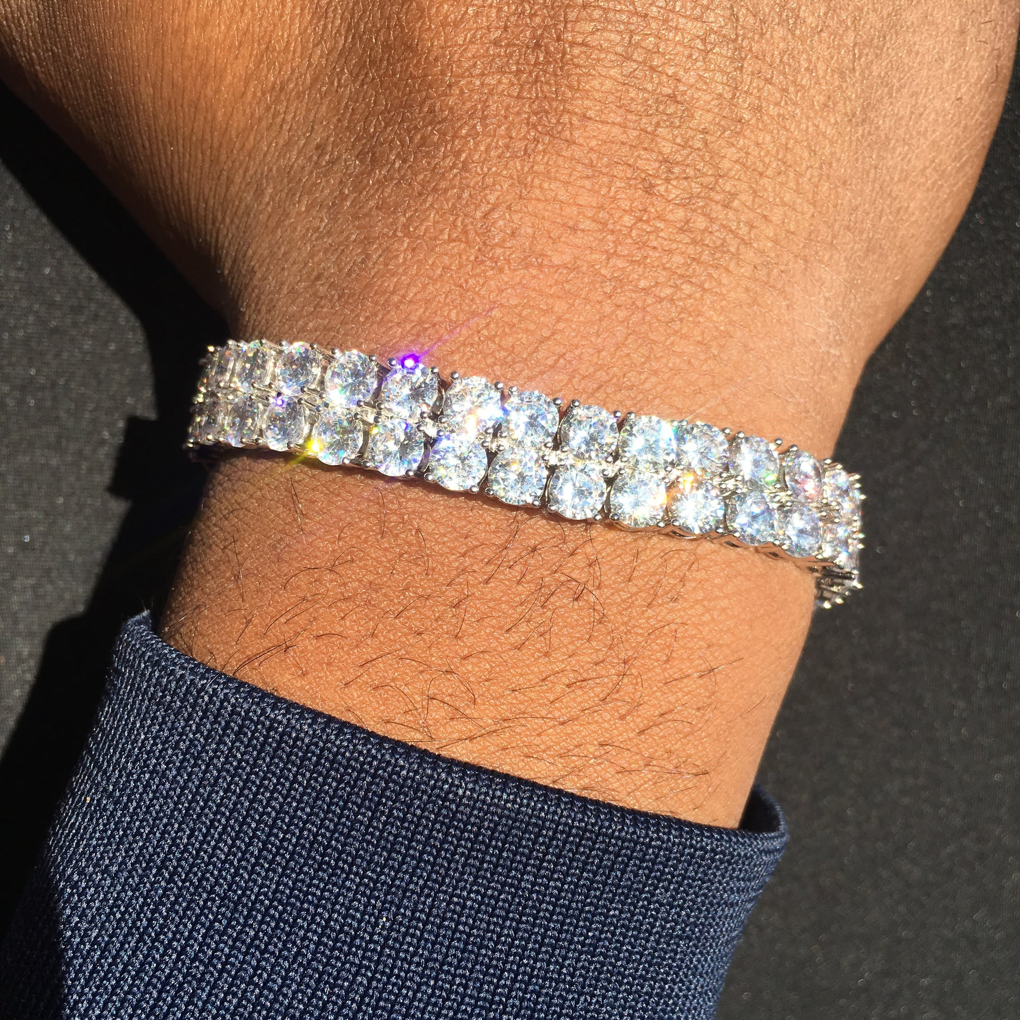 Iced out Double Row Tennis Bracelet