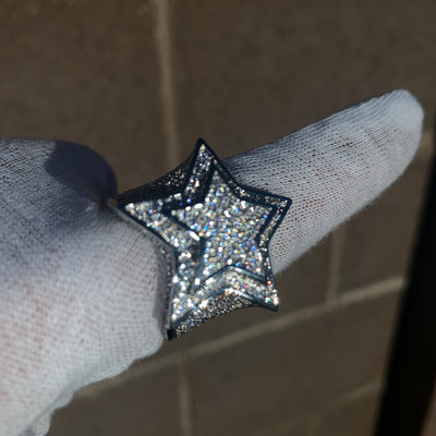 Iced Out Super Star Ring