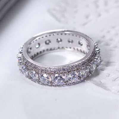Iced Out Wedding Band Ring