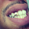 Ice Tray's iced out Gold/Silver Single tooth caps Top & Bottom Grill