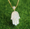 Ice Tray's Iced out  Hamsa Hand Pendant