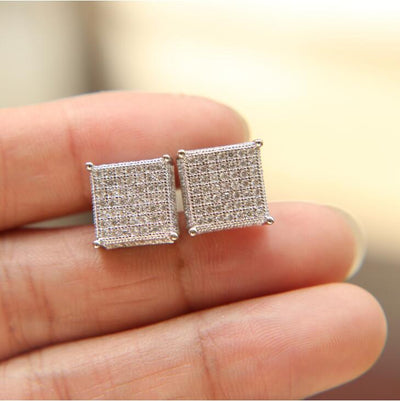 Ice Tray's Iced Out Square Earrings
