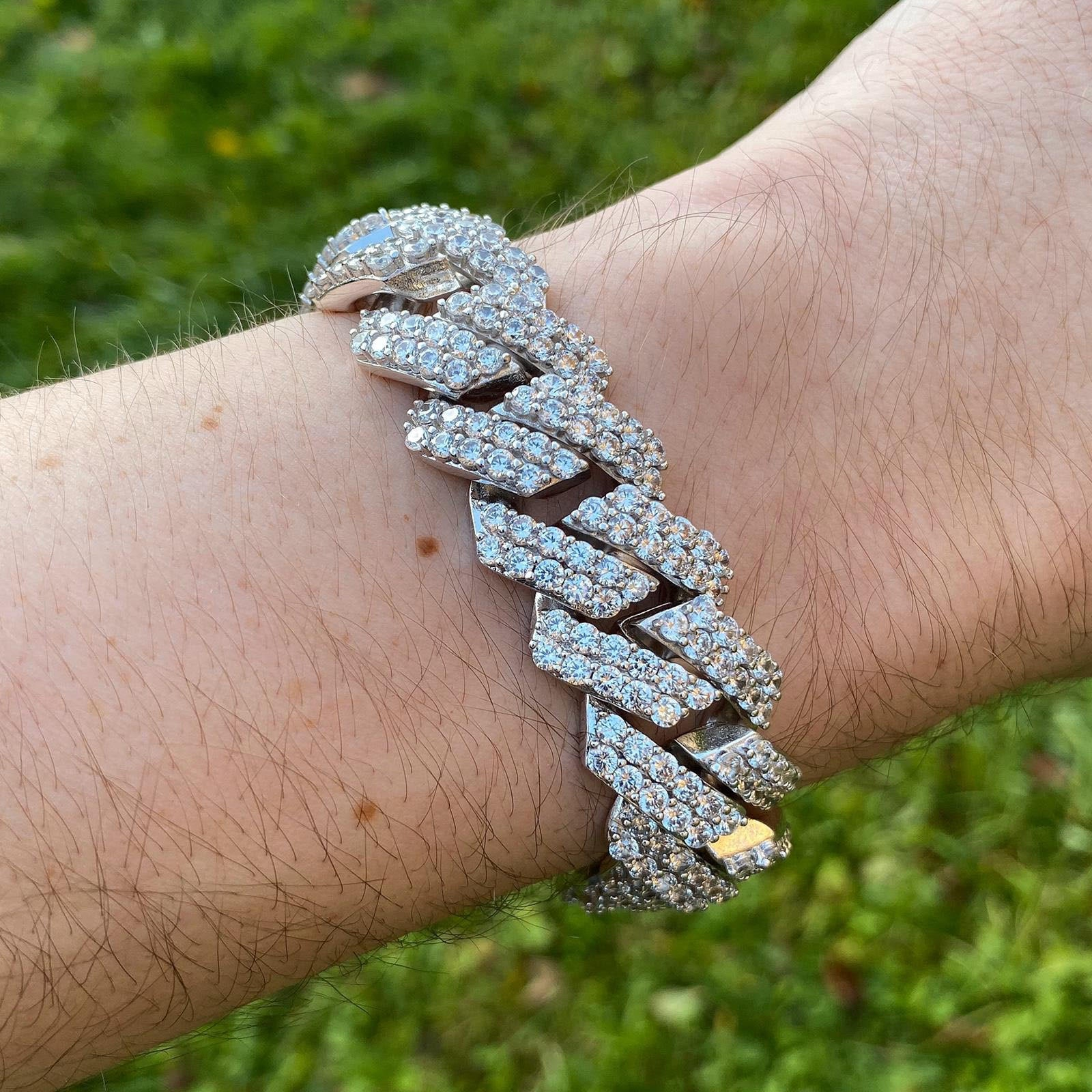 Iced Prong Set Cuban Bracelet