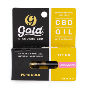 "225mg CBD Vape Cartridge  ""STRAWNANA"""
