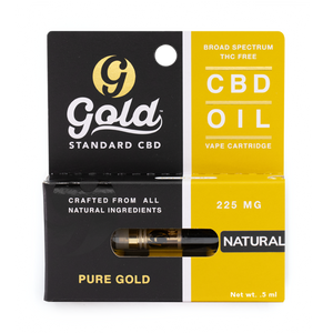 "225mg CBD Vape Cartridge  ""NATURAL"""