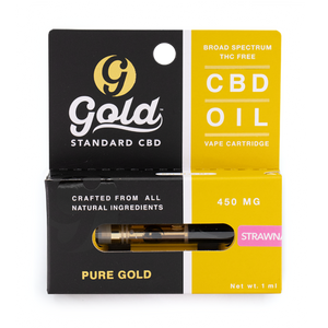 "450mg CBD Vape Cartridge  ""STRAWNANA"""