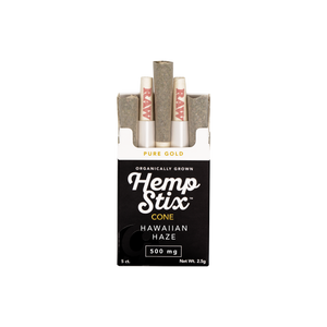 500mg Hemp Stix .5G Cone 5 Pack