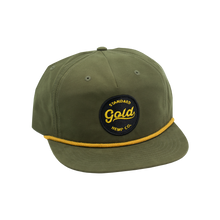 5-panel Snapback Hat with Gold Standard Logo