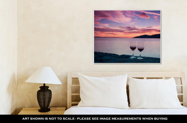 Gallery Wrapped Canvas, Romantic Sunset In West Vancouver